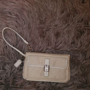 Coach Wristlet Purse - Beige